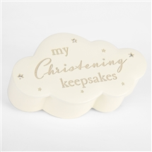 Cloud Christening Keepsake Box 14.5cm