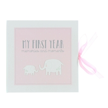DUE NOVEMBER-Petit Cheri Firsty Year Record Book Pink 23cm