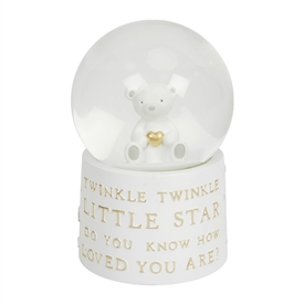 Bambino Resin New Baby Musical Water Globe