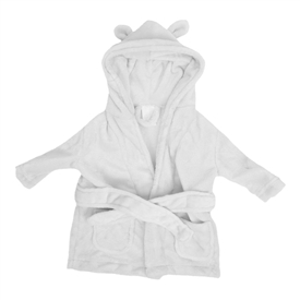 Bambino Babys First Dressing Gown White