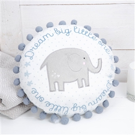 Petit Cheri Elephant Cushion Blue 37cm