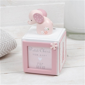 Petit Cheri Photo Cube With Money Box Pink