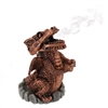 Red Dragon Incense Cone Holder 9cm