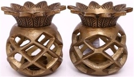 Pineapple Tealight Holder 2 Assorted 11cm