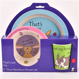That's Not My Bunny Bamboo Dinner Set
