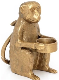 Monkey Tealight Holder 19cm