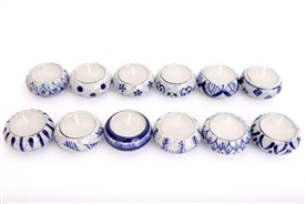 Blue And White Tea Light Holder SOLD IN 12's