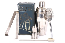 5 Piece Stainless Steel Cocktail Gift Set