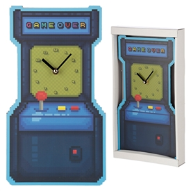 Game Over Arcade Shape Clock