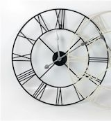 Black Roman Numeral Skeleton Clock 40cm