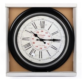 Antique Black And White Clock 40cm