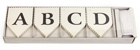 White Alphabet DIY Bunting - Pack 75
