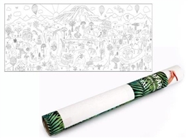 Safari Design Colouring In Wall Art Poster 160cm