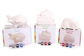 Paint Your Own Money Bank 3 Assorted 10cm