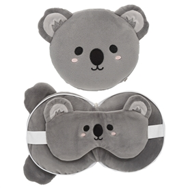 Travel Pillow & Eye Mask Combo � Koala 17cm