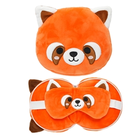 Travel Pillow & Eye Mask Combo � Red Panda 17cm