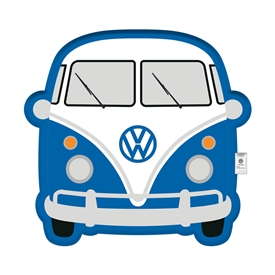Volkswagen Blue Campervan Cushion