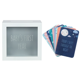 Baby Milestone Cards With Memory Box 18cm