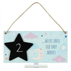 Baby Arrives Countdown Plaque 20cm