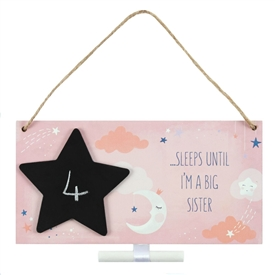 Big Sister Countdown Plaque 20cm