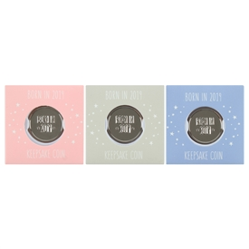 Born In 2019 Keepsake Coin 3 Assorted