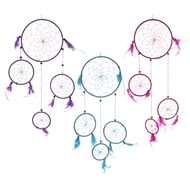 Dreamcatcher With Mini Catchers & Small Beads