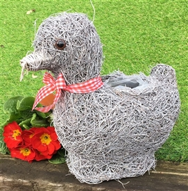 15% OFF<p>Brushwood Grey Duck Planter 30cm