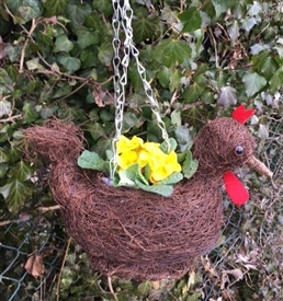 Brushwood Hanging Cockerel Planter 30cm