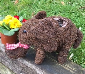 15% OFF<p>Brushwood Elephant Planter 30cm