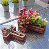 Brown Brushwood Traditional Religious Cross Style 2 Assorted Sized Planters 36cm