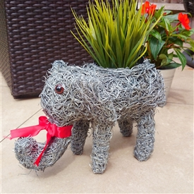 Grey Brushwood Elephant Planter 30cm