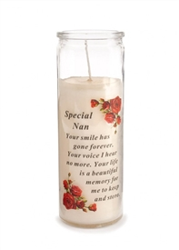 Special Nan Memorial Candle 18cm