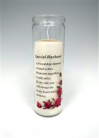 Special Husband Memorial Candle 18cm