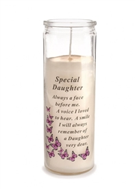Special Daughter Memorial Candle 18cm