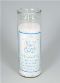 Little Boy Teddy Memorial Candle