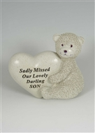 Bear Holding Heart - Sadly Missed Son