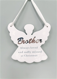 Hanging Angel Memorial Decoration Brother 10cm