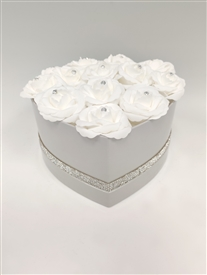 Grey Heart Flower Box