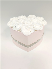 Pink Heart Flower Box