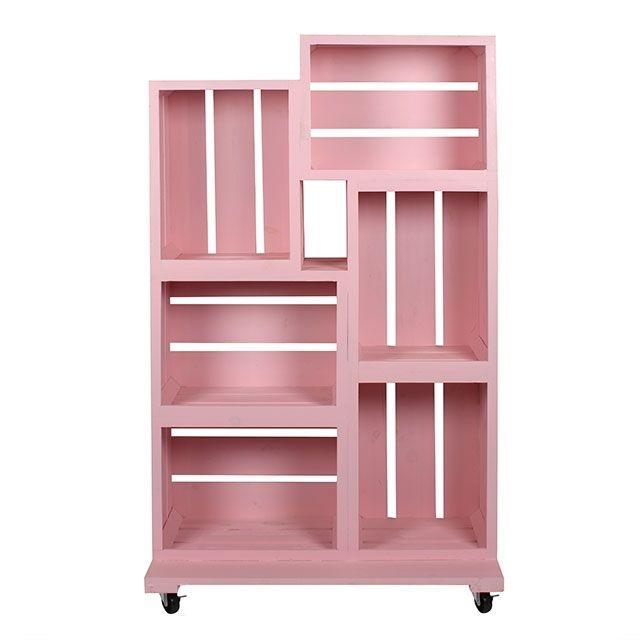 Pink Wooden Crates Retail Display 135cm