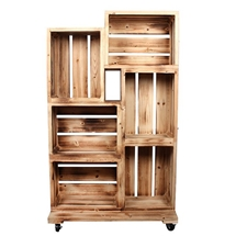 Wooden Crates Retail Display 135cm