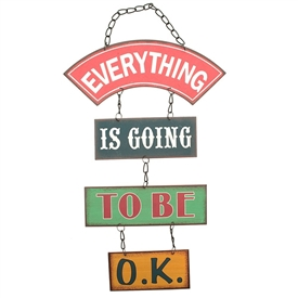 Going To Be Ok Chain Sign 27cm