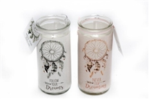 Dream Catcher Candle Tube 6x14cm 2 Assorted