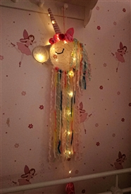 LED Unicorn Head Dreamcatcher