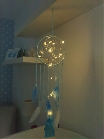 LED Blue Dreamcatcher - Colour Gift Boxed