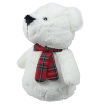 Plush Polar Bear Door Stop 26cm