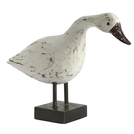 Hand Carved Duck Decoration