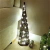 Brown Brushwood LED Light Up Christmas Tree Cone Decoration 70cm