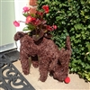 Cute Brown Brushwood Feeding Reindeer Planter 30cm