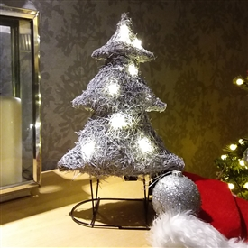 Grey Brushwood LED Light Up Christmas Tree Decoration 41cm